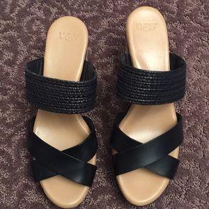 8c577fde7f8 New! Ugg Adriana Espadrilles Black Sandal-7 NWT